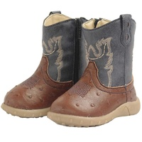 Baxter Western Baby Boots Navy/Brown