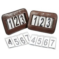 Collegaite Leather Bling Bridle Number Holders