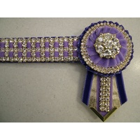 Bling Browband purple/Lylac/gold
