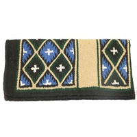 Fort Worth Cross Saddle Blanket Taupe Cross