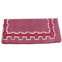 Fort Worth Pink Crosses Saddle Blanket Pink