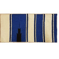 Classic Navajo Saddle Blanket Blue/Cream/Black