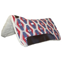 "Fort Worth Contoured Saddle Pad 30""x30"" Blue"