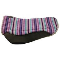 Fort Worth Barrel Contoured Saddle Pad - Purple