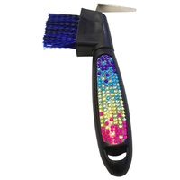 Showmaster Hoofpick w/Brush w/Rainbow Crystal Decoration