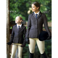 Tayla Girls Brown Hunter Show Riding Jacket