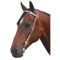 TURQUIOSE STONES WESTERN BRIDLE & Breastplate Set