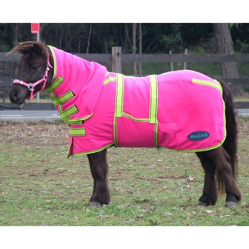 MiniCraft Mini Polar Fleece Combo [Rug Size: 2'3][Colour : Hot Pink/Lime/Purple]